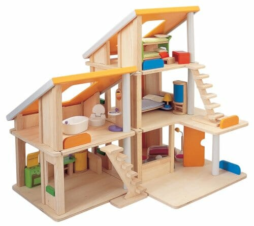 doll furniture recycled materials. Plan Toy Chalet Doll House With Furniture Recycled Materials