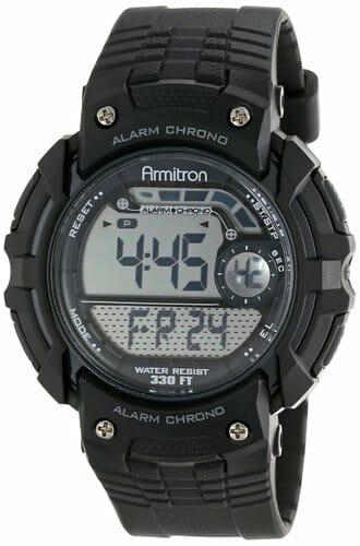 Armitron Chronograph Black Digital Sport Watch