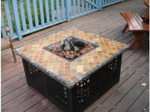 Blue Rhino GAD860SP LP Gas Outdoor Firebowl with Marble and Slate Mantle
