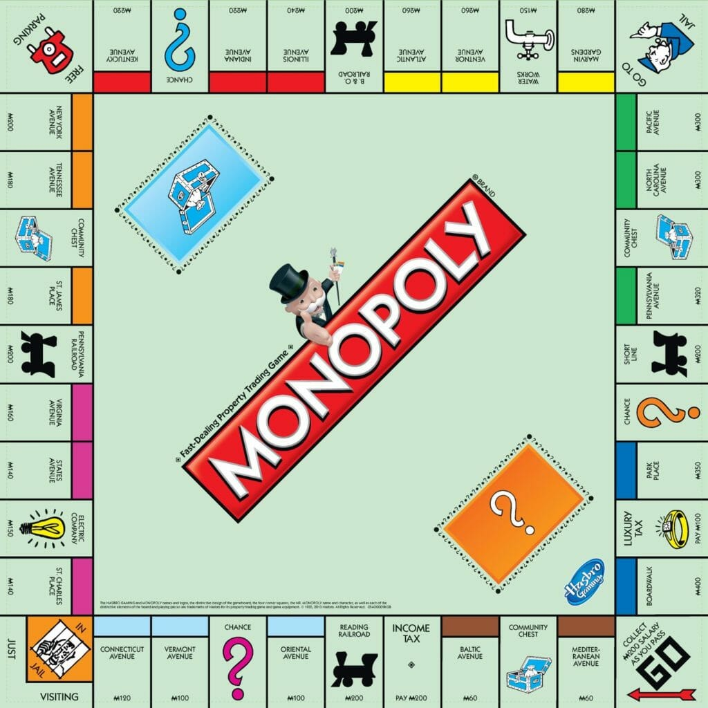 custom monopoly board template - 50 greatest card games and board games of all time