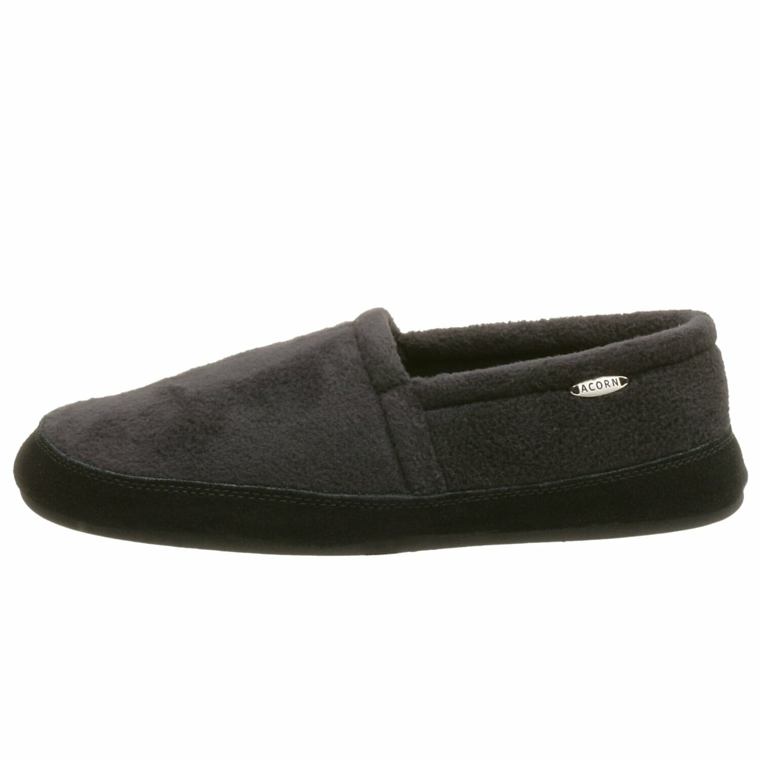 58b08d3b088 This men s slipper is a gender neutral option that is made of fleece with a  man-made sole which is very sturdy. Choosing a fabric slipper allows for ...