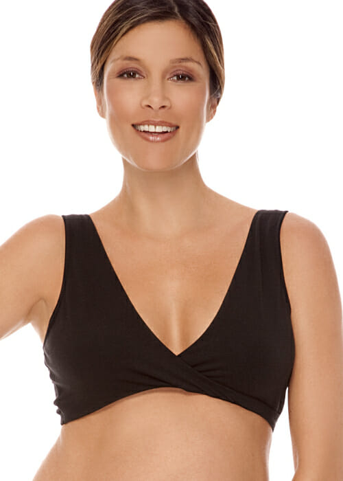 Lamaze Cotton Spandex Sleep Bra for Nursing and Maternity