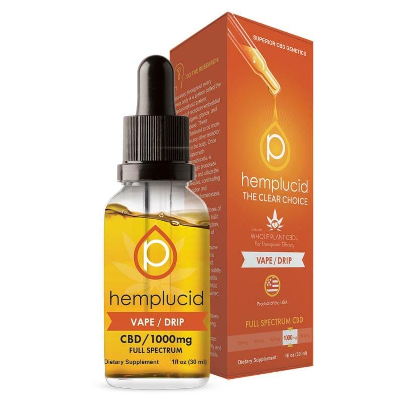 HemplucidWhole Plant CBD Vape/Tincture
