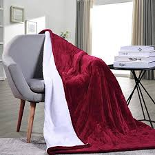 Full Size Electric Heated Fleece Blanket Cozy Warm Extra-soft 10 Heat Settings