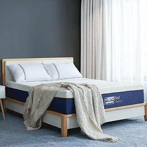 BedStory 12-Inch Lavender Memory Foam Mattress