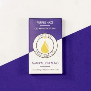 The CBD Skincare CO. Purple Haze Body Bar
