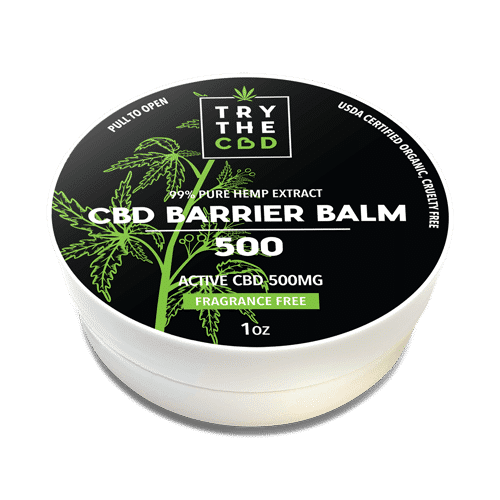 Try the CBD 500 MG CBD Barrier Balm