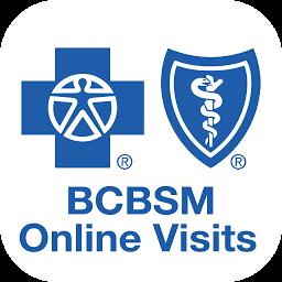 BCBSM Online Visits App Logo