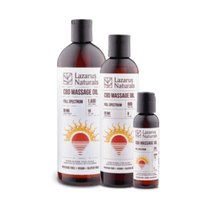 Lazarus Naturals best CBD massage oils