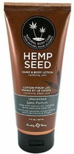 Earthly Body Nag Champa top ten hemp lotion