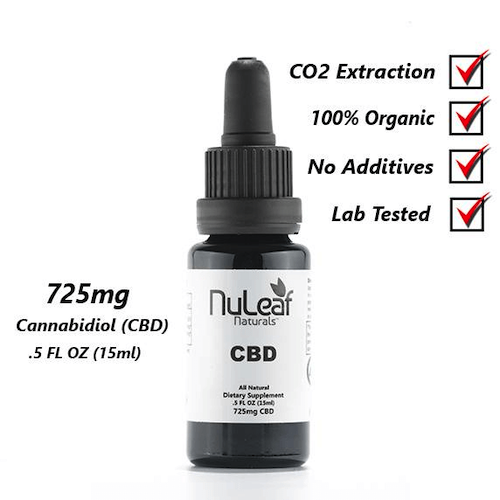 725mg Full Spectrum CBD Oil, High-Grade Hemp Extract
