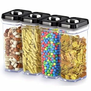 DWËLLZA 2 Top Ten Clear Food Storage Container Sets