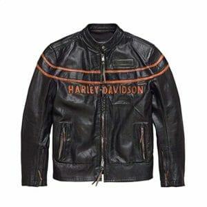 Cole Haan Mens Vintage Slim Fit Cafe Racer Genuine Sheepskin Leather Jacket