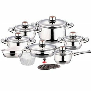 Swiss Inox Top Ten Stainless Steel Cookware Sets