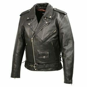 Sword Cafe Racer Biker Motorcycle Retro Slim Fit Genuine Leather Jacket For Mens