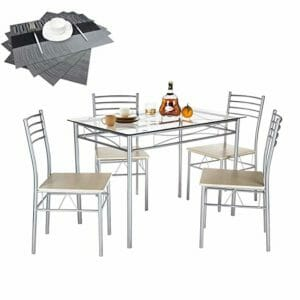 VECELO Top Ten Dining Sets For Small Spaces