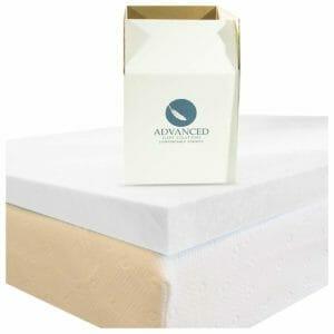 Advanced Sleep Solutions Top Ten Twin Size Memory Foam Mattress Toppers