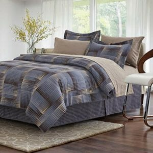 Brown & Grey Top Ten Full-Size Bed In A Bag Sets