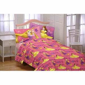 Disney Princess Top Ten Twin Size Flannel Sheet Sets