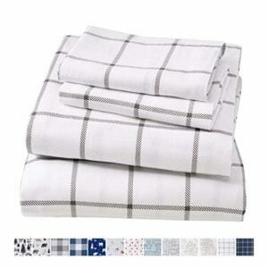 Great Bay Home Top Ten Queen Size Flannel Sheet Sets