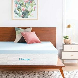 Linenspa Top Ten Queen Size Memory Foam Mattress Toppers