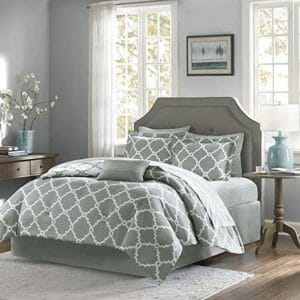 Qutain Linen Top Ten Full-Size Bed In A Bag Sets
