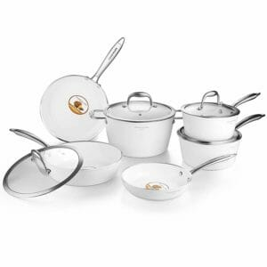 AMERICOOK Top 10 Best Ceramic and Porcelain Pots and Pans Sets