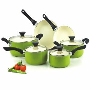 Cook N Home Top 10 Best Ceramic and Porcelain Pots and Pans Sets