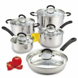 Cook N Home Top 10 Best Pots and Pans Sets for Induction Stoves