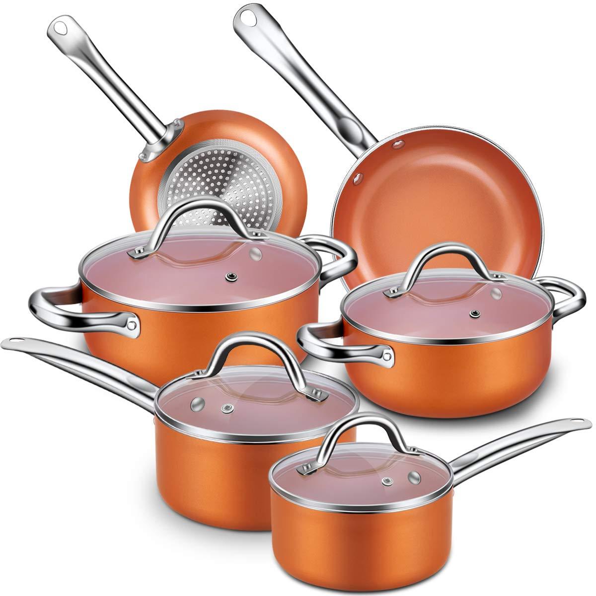 Top 10 Best Aluminum Pots And Pans Sets Best Choice Reviews