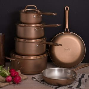 Fleischer and Wolf 2 Top 10 Best Copper Pots and Pans Sets