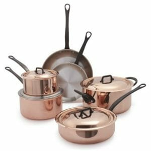 Mauviel 2 Top 10 Best Copper Pots and Pans Sets