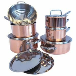 Paderno Top 10 Best Copper Pots and Pans Sets