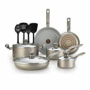 T-fal Top 10 Best Ceramic and Porcelain Pots and Pans Sets