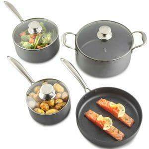 VonShef Top 10 Best Aluminum Pots and Pans Sets