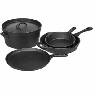 AmazonBasics Top 10 Best Cast Iron Pots and Pans Sets